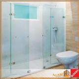 box frontal para banheiro vidro