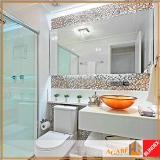 espelho decorativo banheiro Itaim Bibi