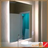 espelho decorativo para banheiro preço Moema