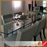 quanto custa tampo de vidro para mesa retangular Jardim Aeroporto